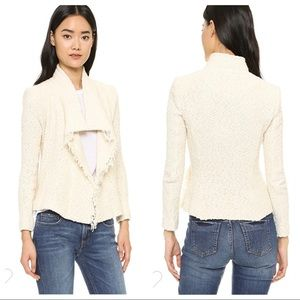 IRO Cream Mira bouclé knit Jacket Blazer 36 / S